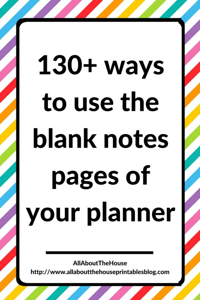 how to use blank notes pages of your planner empty notebook planning idesa roundup blog about planning diy hack cheap printable