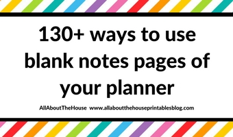 how to use blank pages of your planner notebook make use of empty notebooks effective what to do with a weekly planning diy hack