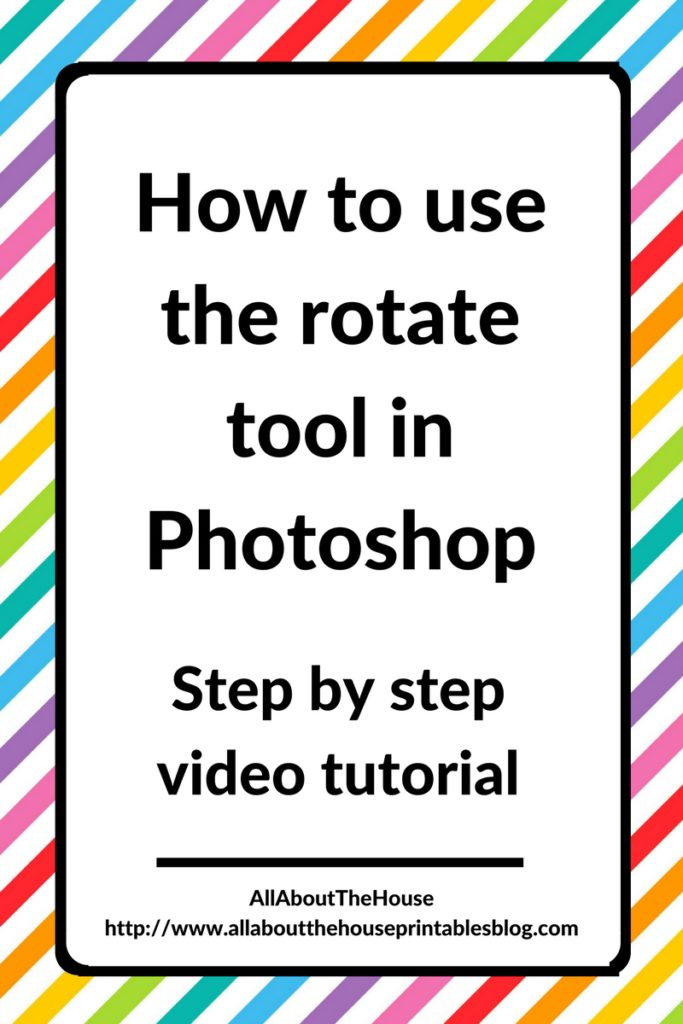 how to use the rotate tool in photoshop getting started beginner graphic design ecourse quick tip tutorial