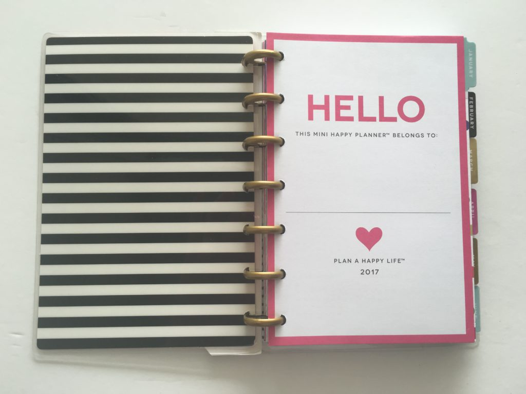 mini happy planner honest review dimensions size peek inside cute gold foil should i buy it