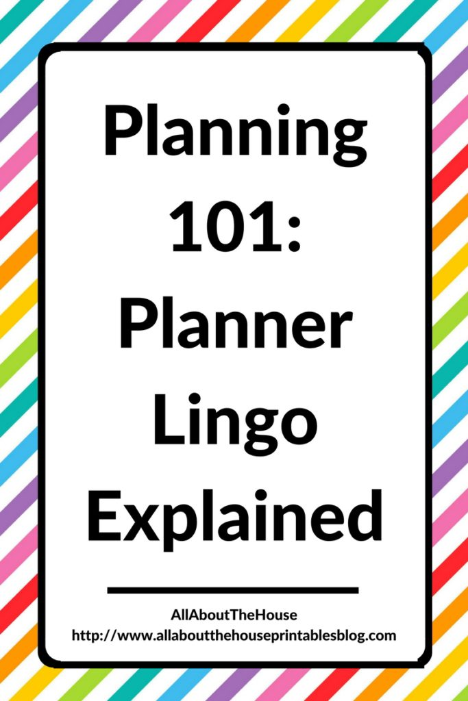 planner lingo explained, planning 101, planning for beginners, introduction, getting started, how to choose a planner, terms