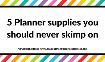planner supplies you should never skimp on cheap review planning productive splurge worth the money cost productive pretty cute