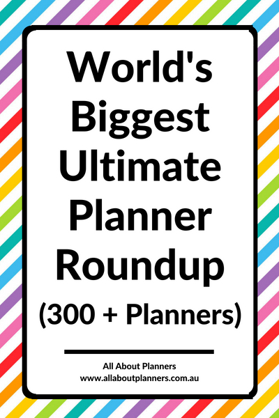 ultimate planner roundup worlds biggest weekly horizontal hourly monday sunday start vertical daily undated day to a page insert