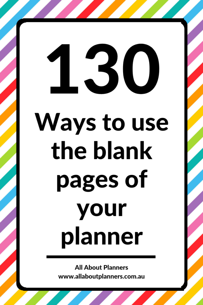 130 ways to use blank notes pages in your planner monthly planning pages tips ideas inspiration planner newbie inspo