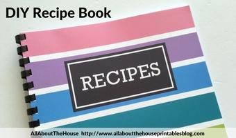 How to make a DIY Recipe Book (plus free printables)
