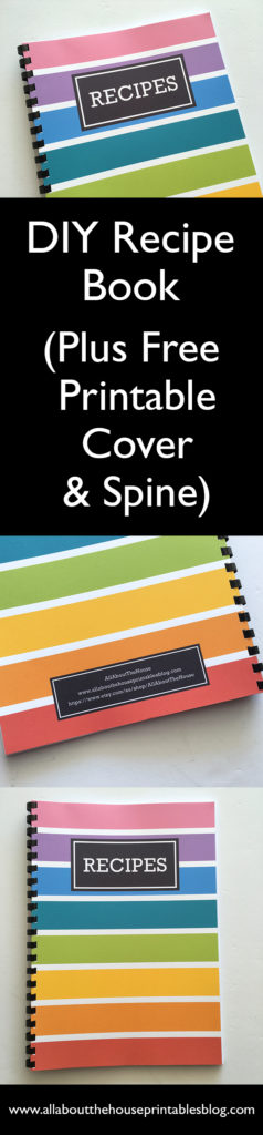 DIY recipe book notebook album organization rainbow color coded editable recipe template card pdf recipe sheet a5 half size binder personalised free printable cooking cookbook