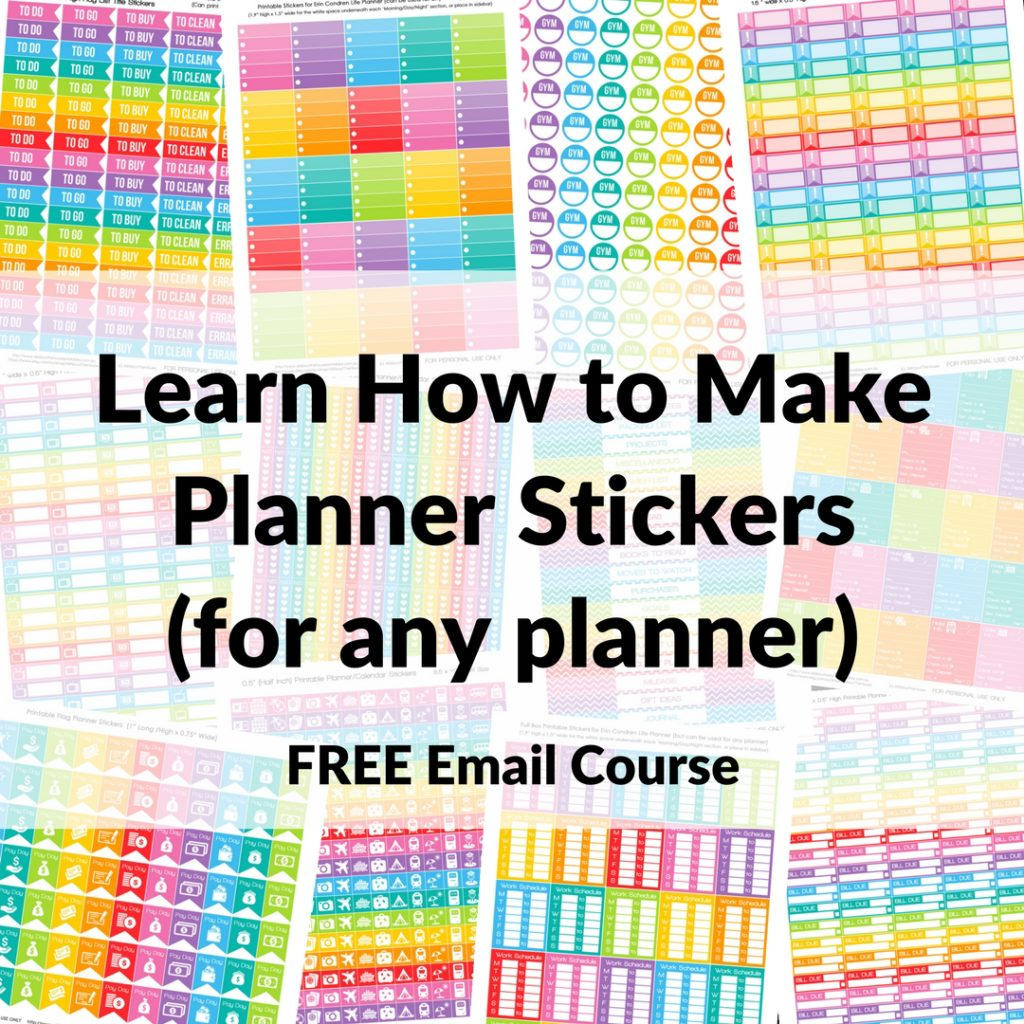 How to make planner stickers free email course