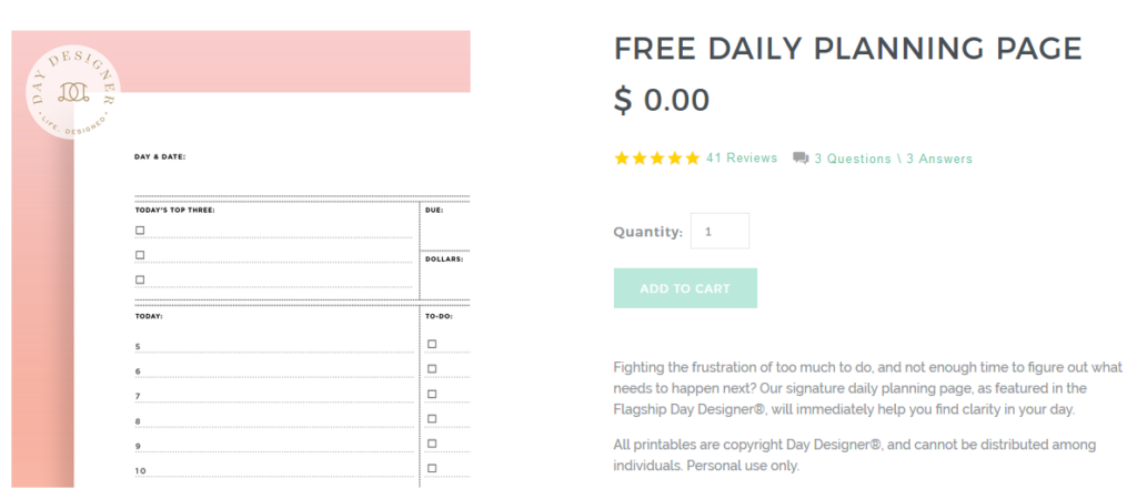 day designer free planner printables to download a5 daily planner review