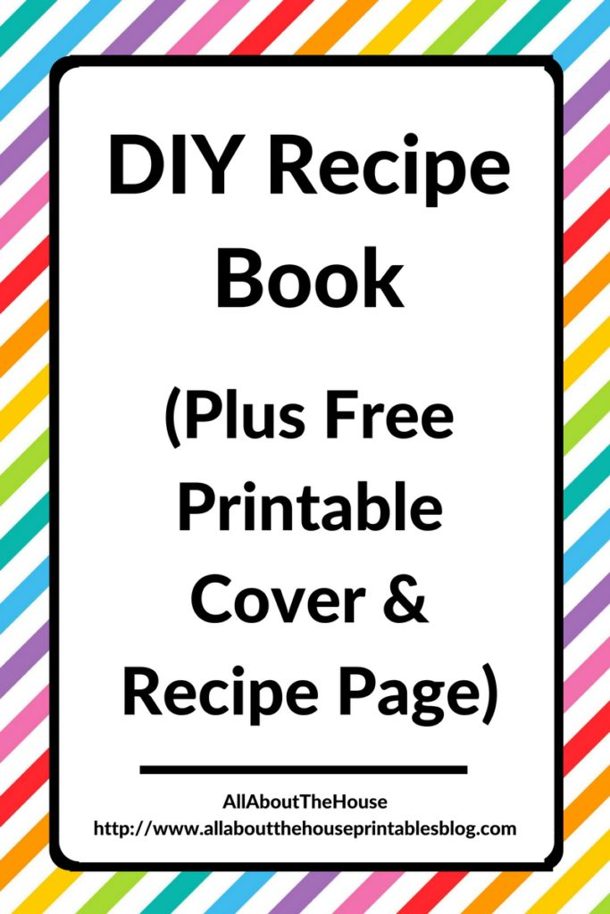 diy recipe book free printable rainbow editable cookbook organization cheap planner hack recipe card a5 half letter a4 gift