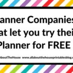 Planner companies that will let you download, print and try their planner layout for free