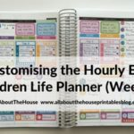 Customising the Erin Condren Hourly Planner for task based planning (52 Planners in 52 Weeks – Week 9)