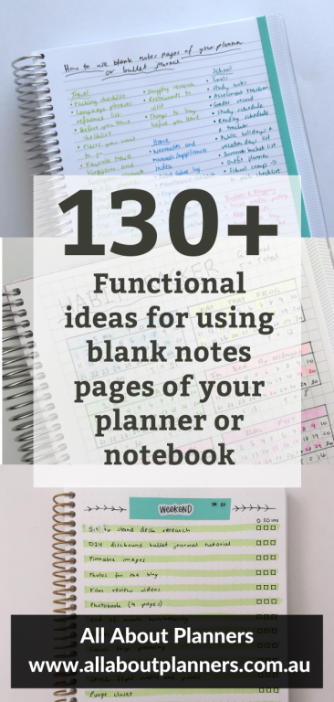 functional ideas for using empty pages of your planner or a blank notebook what to put in your bullet journal weekly planner