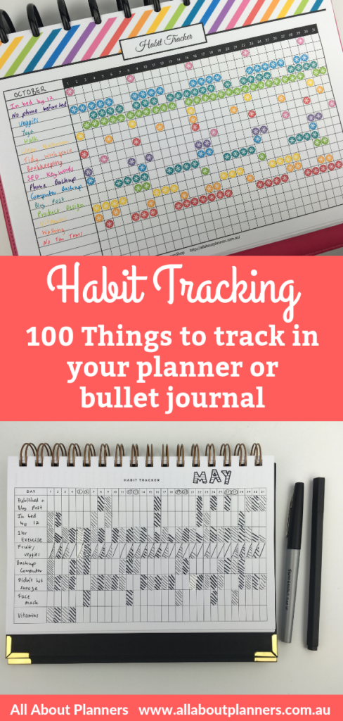 habit tracking 100 things to track in your planner or bullet journal routine tasks planner spread tips inspiration ideas