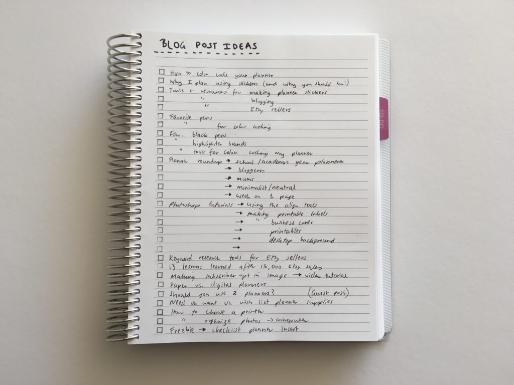 how to keep track of blog post ideas using a notebook simple organized pen and paper versus digital planning systems