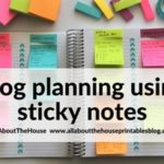 How to keep track of blog post ideas using sticky notes and a notebook
