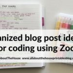 Simple method for organized brain dumping of blog post ideas using a notebook and zooms
