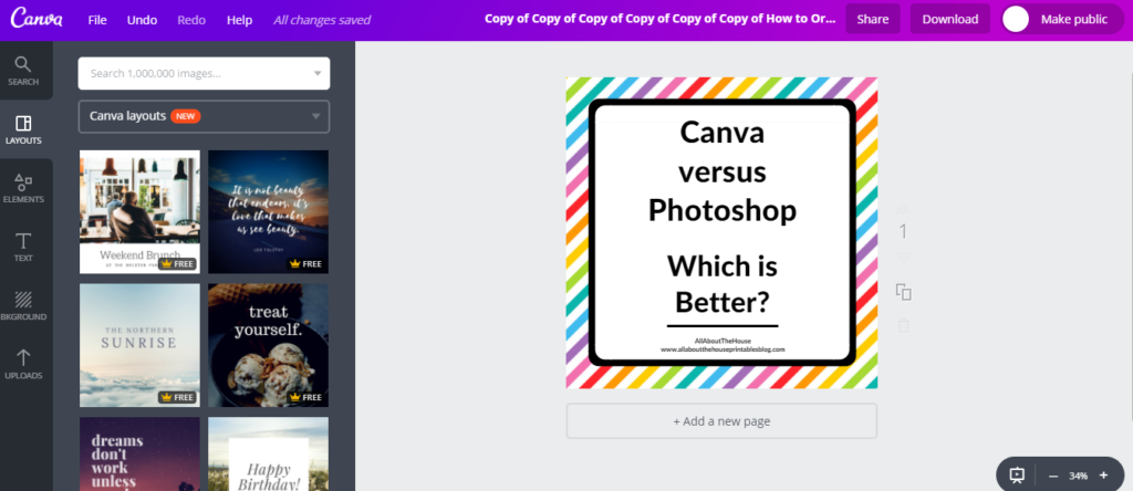 how to make instagram images in canva blog post magic resize tool canva versus photoshop graphic design