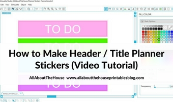 How to make your own custom Erin Condren (or any planner) header title section planner stickers (step by step video tutorial)