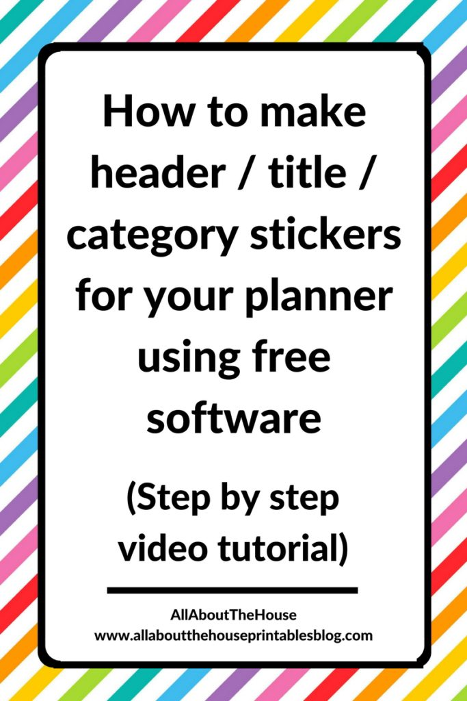 how to make your own planner stickers for free quick and easy tutorial silhouette kiss cut header title erin condren mambi eclp