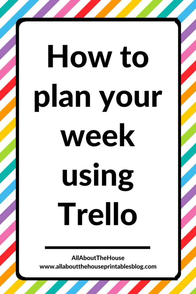 how to use trello to plan your week tutorial blogging board card organization digital weekly planner tool plan with me planning