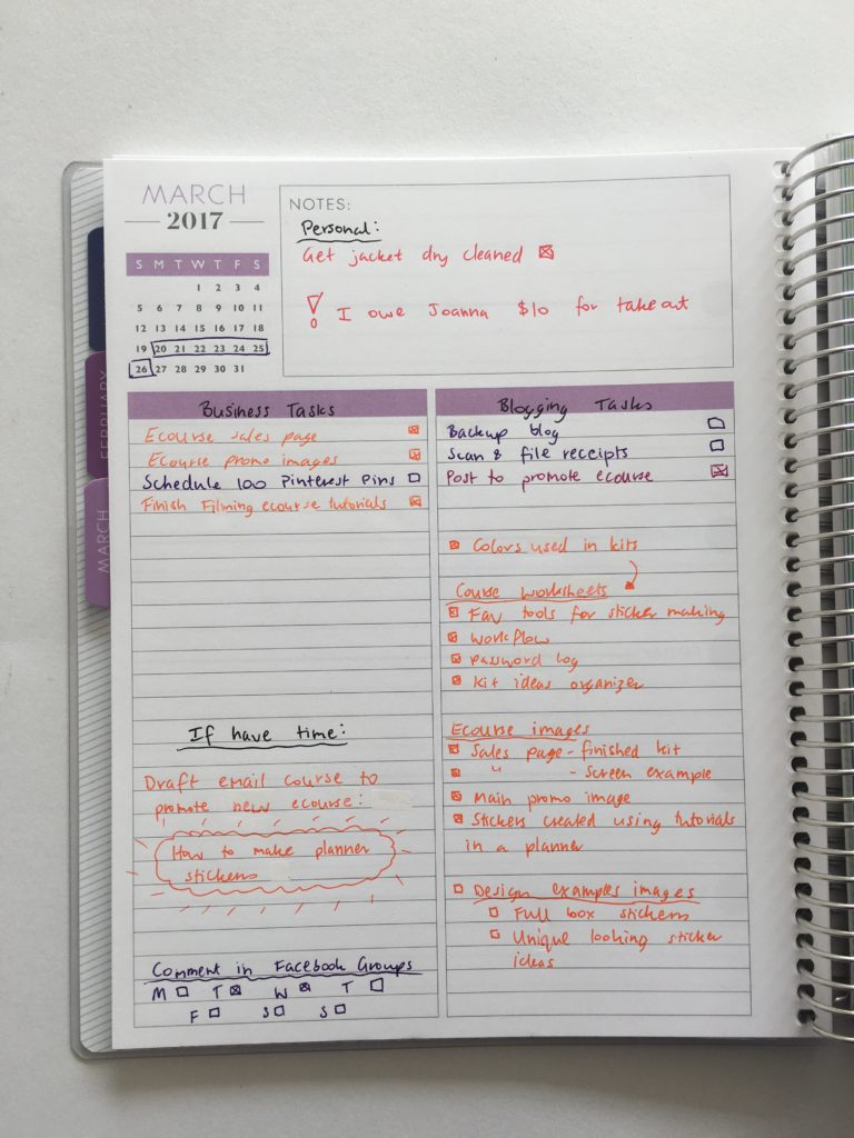 list planner plum paper how to color code your planner functional planning weekly spread cheaper alternative to erin condren-min