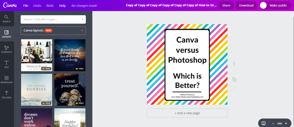 magic resize tool canva tutorial is canvas paid plan worth it canva versus picmonkey versus photoshop graphic design blog images for instagram