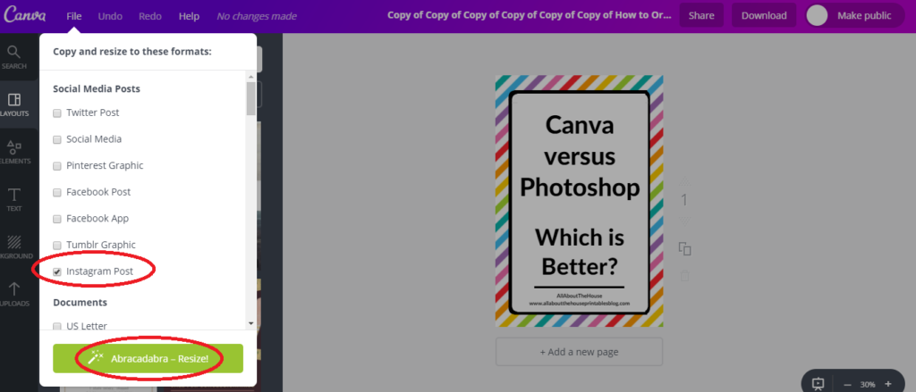 magic resize tool canva tutorial is canvas paid plan worth it canva versus picmonkey versus photoshop graphic design blog images for pinterest