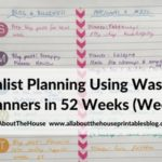 Minimalist 1 page planning using washi tape (52 Planners in 52 Weeks – Week 10)