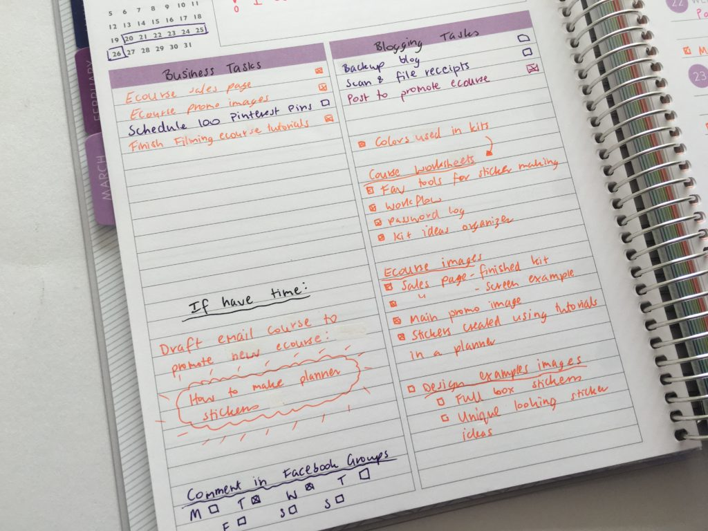 plum paper horizontal lined notes planner review how to color code your planner ecourse launch planning plan with me weekly-min
