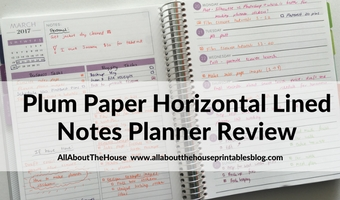 Planning using the Plum Paper Horizontal lined with notes (52 Planners in 52 Weeks – Week 12)