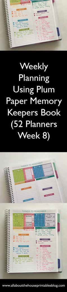 plum paper planners review 1 page per week layout, functional planner, simple planner decorating ideas minimalist rainbow color coding