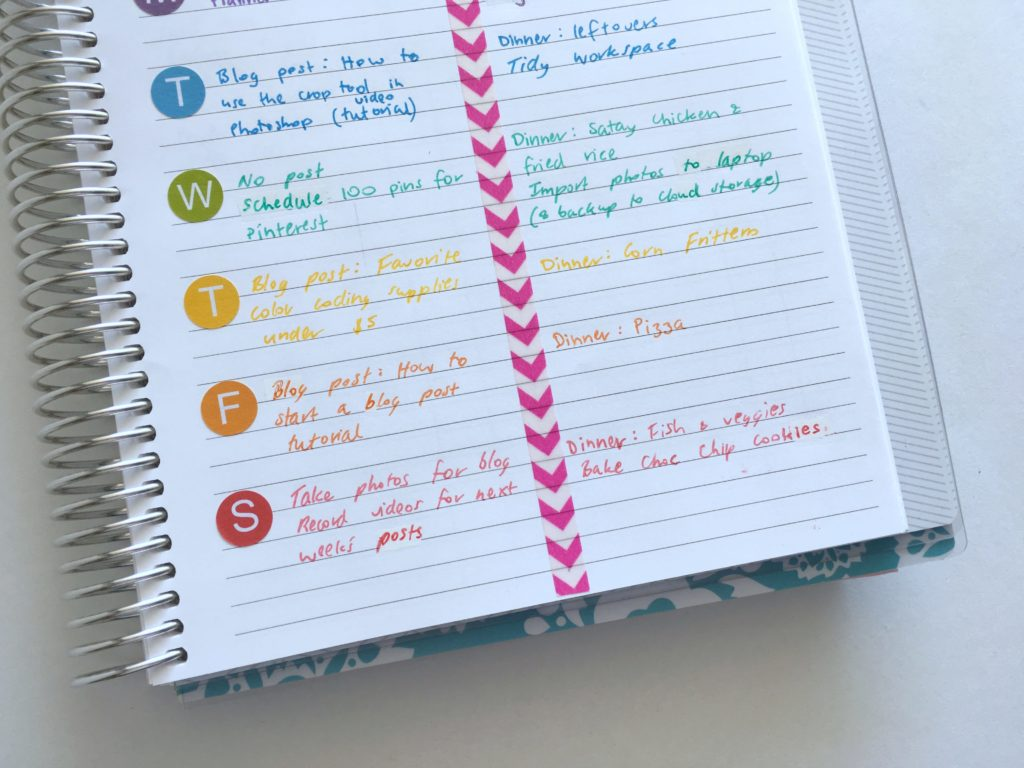 simple planner spread ideas weekly planning plan with me bujo planner washi decorating tips hacks ideas inspiration challenge minimalist-min