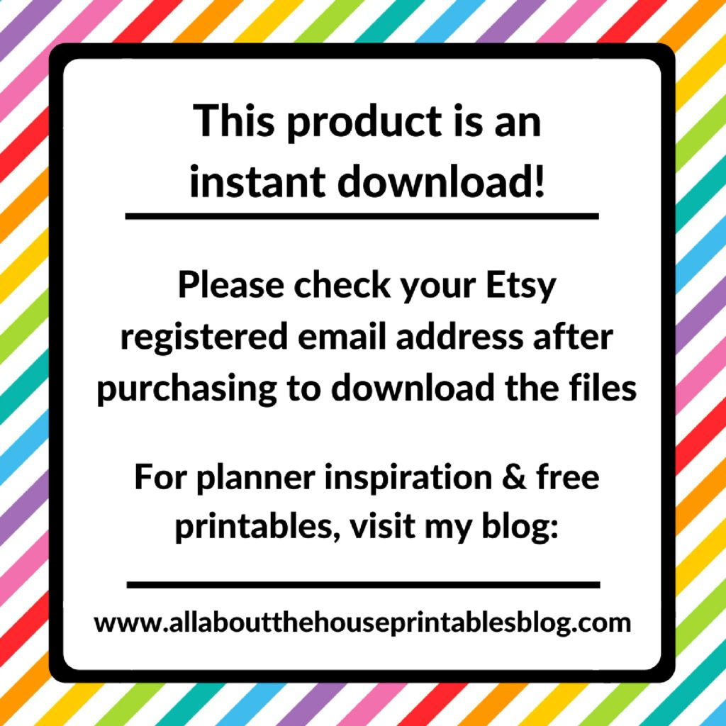 access the free printables library allaboutthehouse planner organization insert rainbow stickers refills