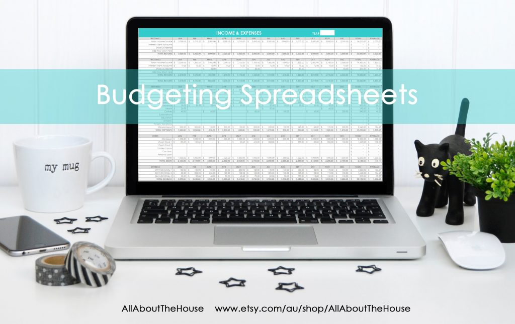 budgeting spreadsheets income expenses tracking family budget spending log editable worksheets monthly excel google docs-min