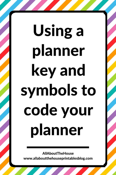 image relating to Bullet Journal Key Printable referred to as Utilizing a planner major and symbols in direction of code your planner