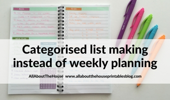 Using a Kmart lists book to plan your week (52 Planners in 52 Weeks – Week 13)