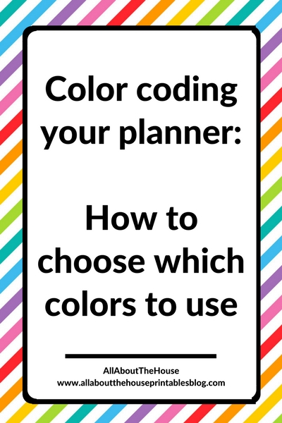 Color coding your planner how to choose which colors to use for Color coding planner