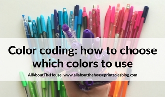 Color coding your planner: how to choose which colors to use