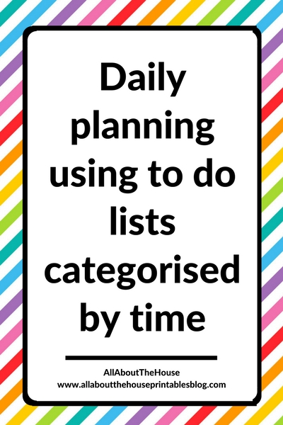daily planning using categorised task list to do list organized by time effective productivity weekly planning process planner