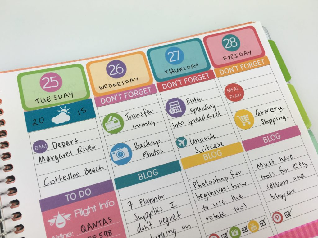 date dot stickers weekly planning plum paper vertical life planner review colorful weekly planner spread lined travel vacation icon stickers blogging