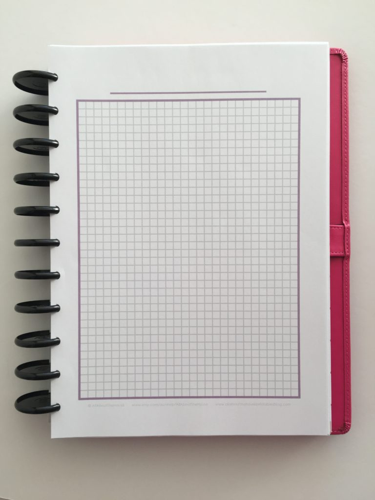 free printable graph paper planner insert diy habit tracker graph income expense tracker attendance record a5 half letter how to make a custom printable planner weekly