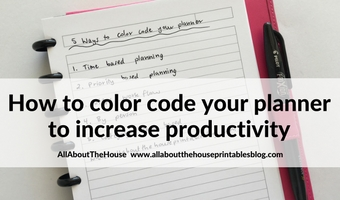 6 Ways to color code your planner to increase productivity