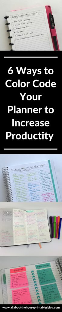 how to color code your planner to increase productivity organization time management favorite pens sticky notes inspiration idea