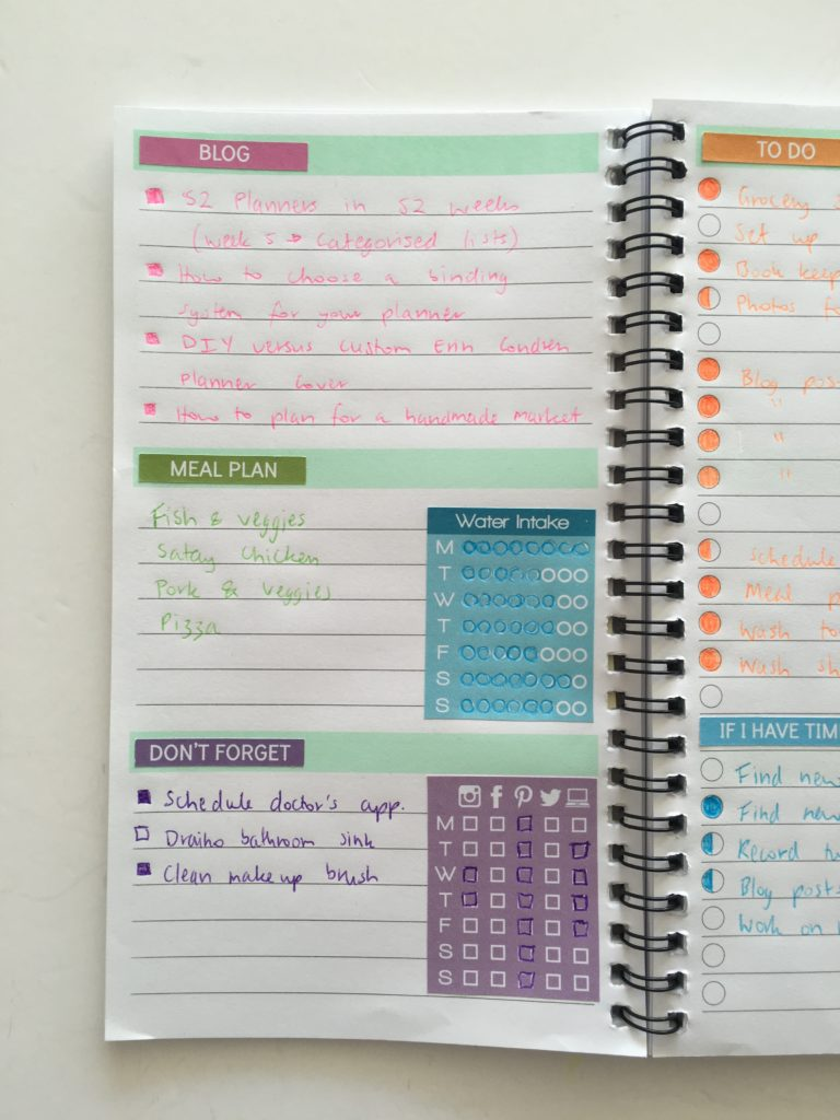 how to create an organized to do list scheduling planner weekly planning plan with me weekly spread color coding-min