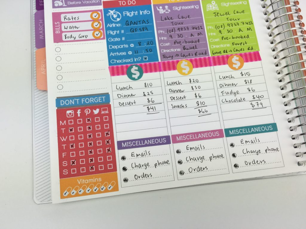 how to keep track of spending in your planner vertical life planner spread ideas planning inspiration checklist diy planner stickers