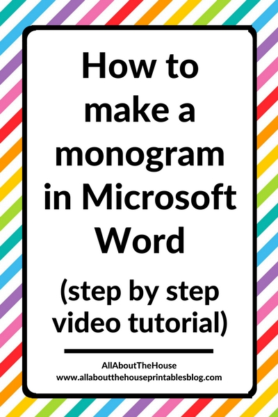 how to make a monogram in microsoft word diy tutorial stationery personalised printable wedding gift idea label tag ecourse