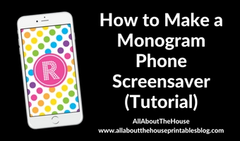 how to make a monogram screensave iphone wallpaper tutorial tablet desktop graphic deisgn beginner photoshop tutorial diy