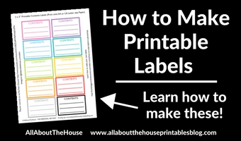 How to make printable storage contents labels in Photoshop (step by step video tutorial)