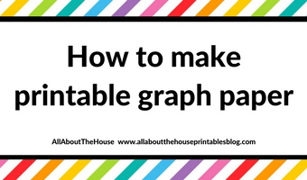 How to make printable graph paper in Photoshop (perfect for habit tracking and bullet journalling!)
