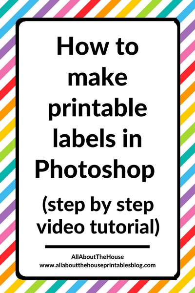 how to make printable labels in photoshop tutorial video contents moving labels color coding printable diy easy quick printable